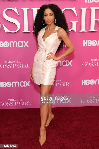 """Cheslie Kryst attends the """"Gossip Girl"""" New York Premiere at Spring Studios on June 30, 2021 in New York City."""