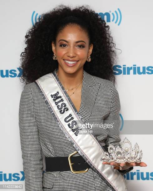 Cheslie Kryst visits the SiriusXM Studios on May 8, 2019 in New York City.