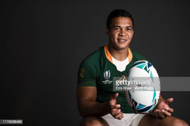 Cheslin Kolbe of South Africa poses for a portrait during the South Africa Rugby World Cup 2019 squad photo call on September 15 2019 in Tokyo Japan