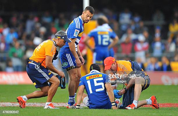 Cheslin Kolbe of the Stormers during the Super Rugby match between DHL Stormers and Emirates Lions at DHL Newlands Stadium on June 06 2015 in Cape...