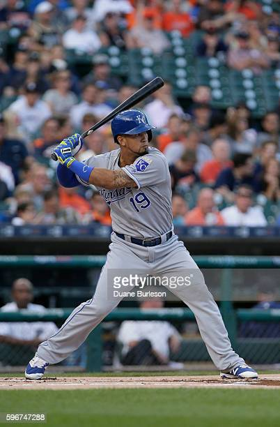 Cheslor Cuthbert of the Kansas City Royals its against the Detroit Tigers at Comerica Park on August 16 2016 in Detroit Michigan