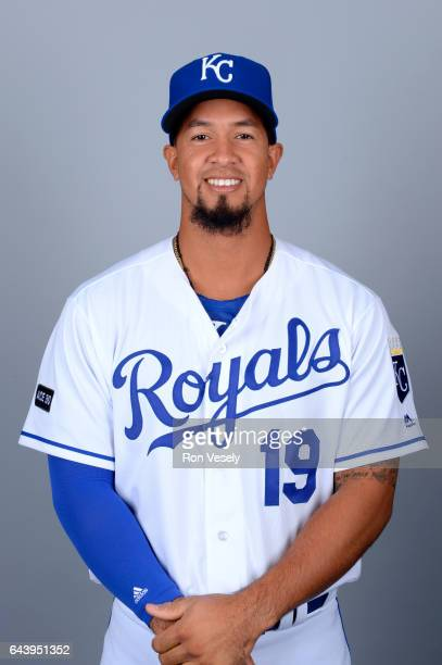 Cheslor Cuthbert of the Kansas City Royals poses during Photo Day on Monday February 20 2017 at Surprise Stadium in Surprise Arizona