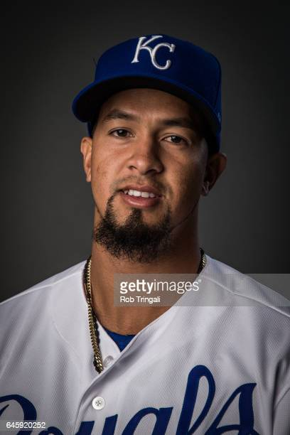 Cheslor Cuthbert of the Kansas City Royals poses for a portrait at the Surprise Sports Complex on February 20 2017 in Surprise Arizona