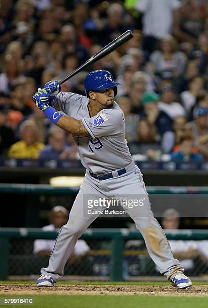 Cheslor Cuthbert of the Kansas City Royals prepares to bat against the Detroit Tigers at Comerica Park on July 16 2016 in Detroit Michigan