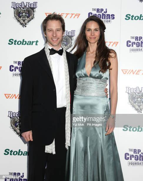 Chesney Hawkes and his wife Kristina arriving for the RPJ Crohns Foundation Rock Ball at The Hurlingham Club in west London