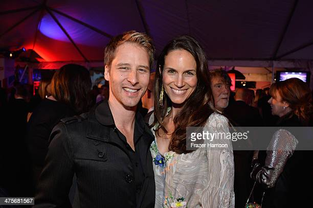 Chesney Hawkes and Kristina Hawkes attend the 2014 GREAT British Oscar Reception at British Consul General's Residence on February 28 2014 in Los...