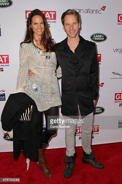 Chesney Hawkes and Kristina Hawkes attends the 2014 GREAT British Oscar Reception on February 28 2014 in Los Angeles California