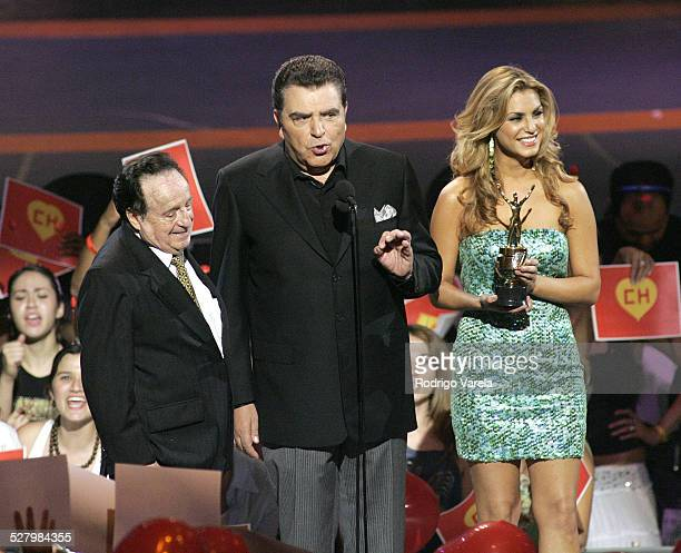 Chespirito and Don Francisco during 2005 Premios Juventud Awards Show at University of Miami Convocation Center in Miami Florida United States