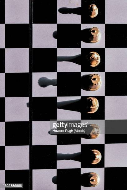 chess board pieces - howard pugh stock pictures, royalty-free photos & images