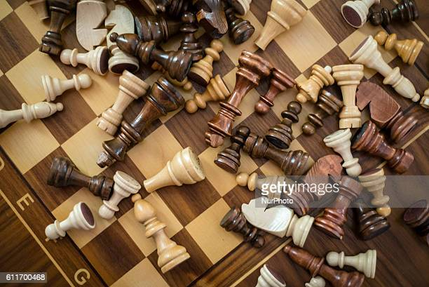 A chess board with chess pieces Quba Chess School Azerbaijan Sports schools especially chess schools are supported by the Government in Azerbaijan In...