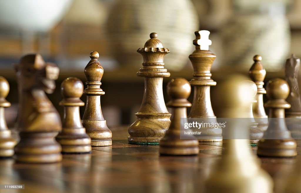 Chess Game, Strategy and Decision Making : Stock Photo