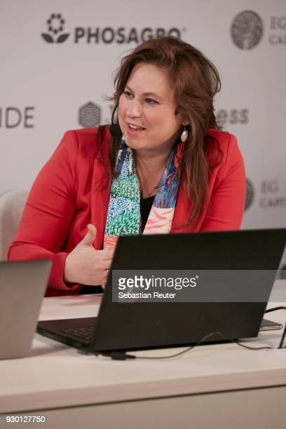 Chess grandmaster Judit Polgar is seen at the First Move Ceremony during the World Chess Tournament on March 10, 2018 in Berlin, Germany.
