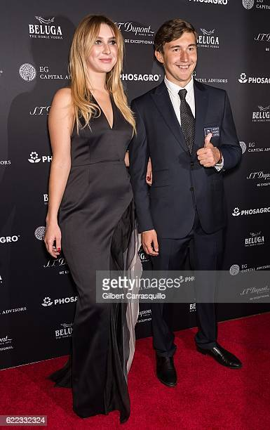 Chess grandmaster Sergey Karjakin and guest attend the 2016 World Chess Championship Match Opening Ceremony at The Plaza Hotel on November 10 2016 in...