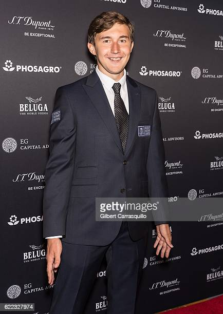 Chess grandmaster Sergey Karjakin attends the 2016 World Chess Championship Match Opening Ceremony at The Plaza Hotel on November 10 2016 in New York...
