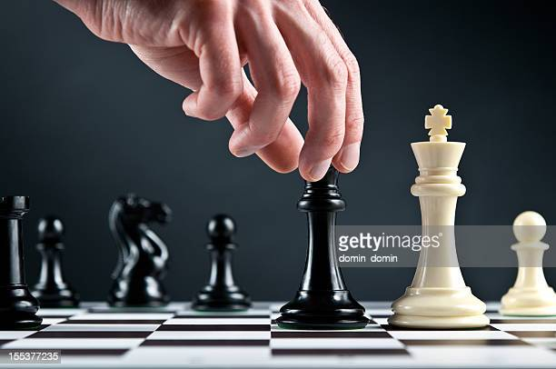Chess King is in check, Checkmate move on chess board
