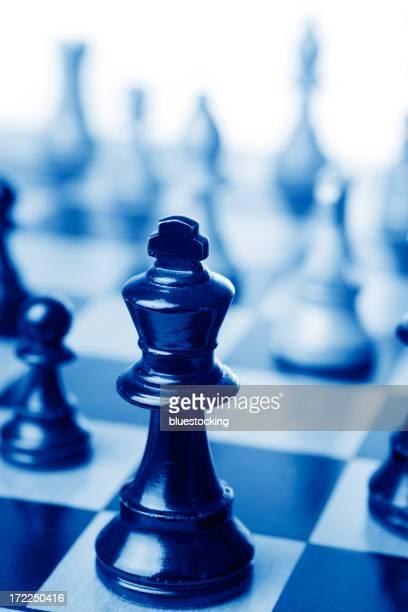 Schach mit King-Size-Bett