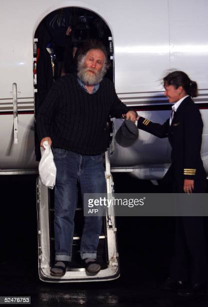 Chess legend Bobby Fischer steps down from a private plane chartered by Icelandic television upon arrival in Reykjavik late 24 March 2005 The highly...