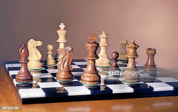 chess on brown