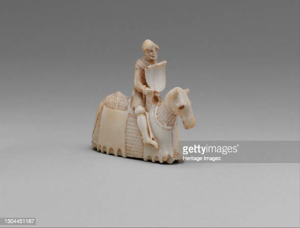 Chess Piece in the Form of a Knight, Western European, possibly England, circa 1350-60. Artist Unknown.