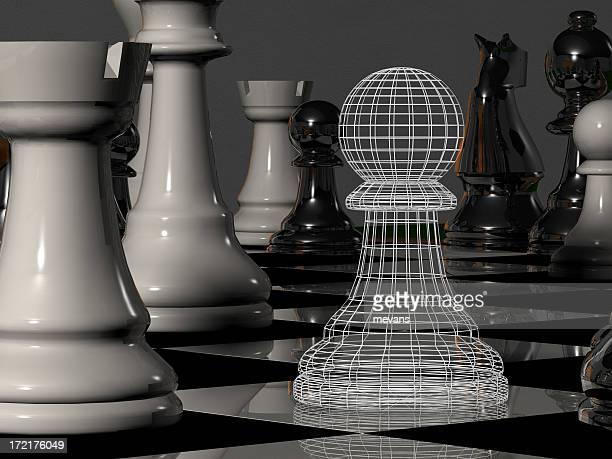 Schachfigur-Gitternetzlinien