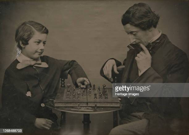 Chess Players, 1850s. Artist Unknown.
