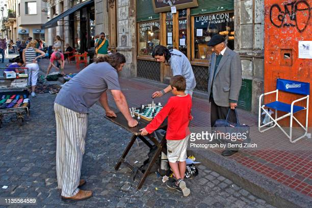Chess players in San Telmo