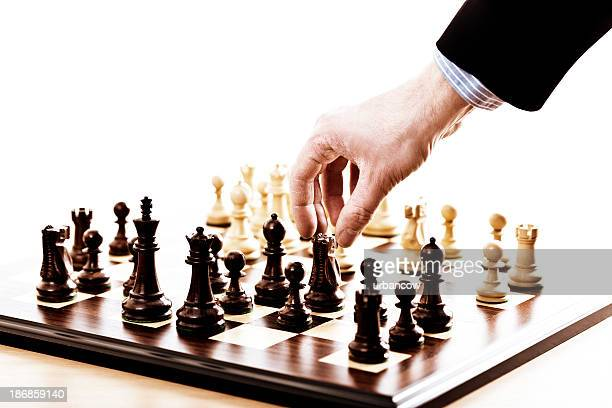 Chess set with hand