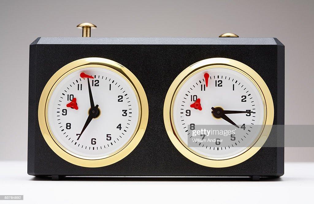 Chess time clock : Stock Photo