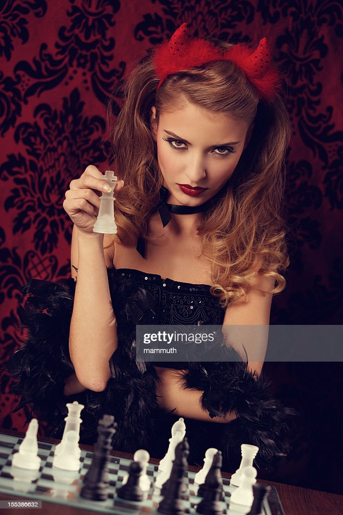 chess with the devil : Stock Photo