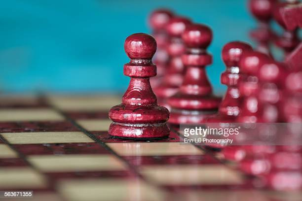 Chess, wood pawns