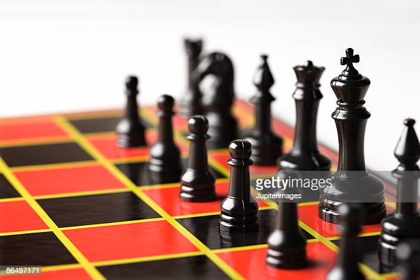 Chessboard with pieces