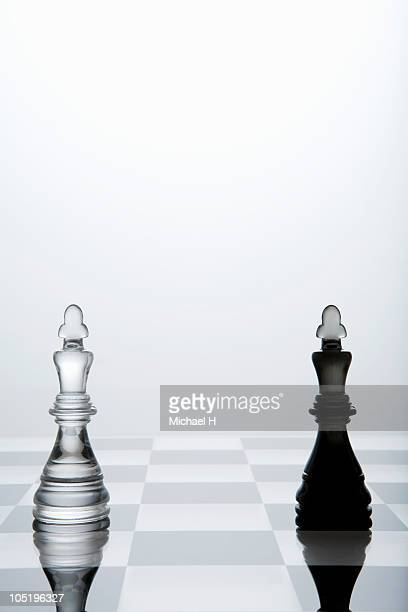 Chessman of two kings left on chess board