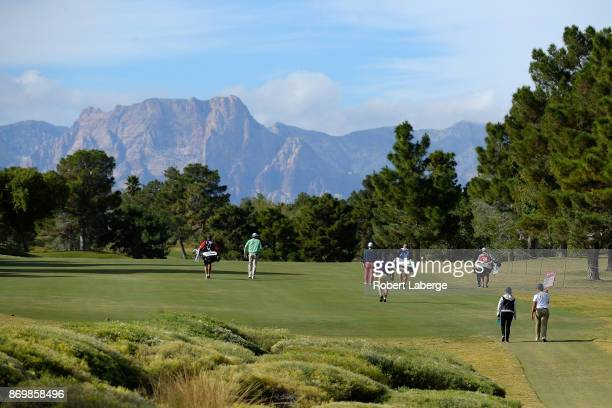 Chesson Hadley David Lingmerth of Sweden and Camilo Villegas of Colombia walk up the 16th fairway during the second round of the Shriners Hospitals...