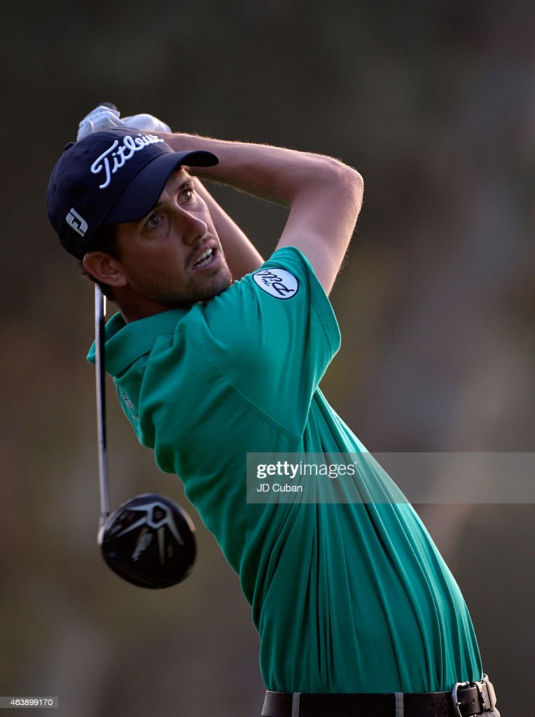 Chesson Hadley tees off on the ninth hole during round one of the Northern Trust Open at Riviera Country Club on February 19, 2015 in Pacific Palisades, California.