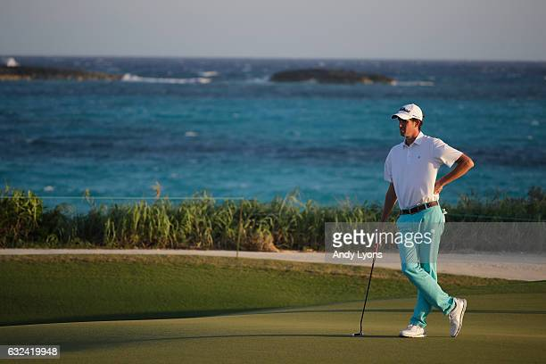 Chesson Hadley waits to putt on the fifth hole during the first round of The Bahamas Great Abaco Classic at Abaco Club on January 22 2017 in Great...