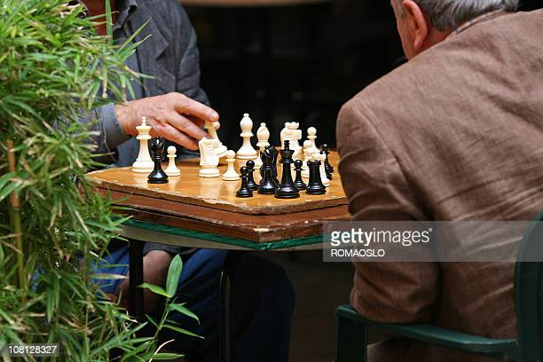Chessplayers on the street, Italy
