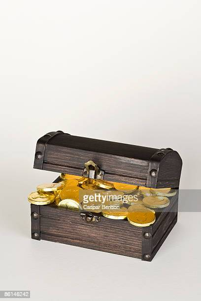 A chest full of gold coins