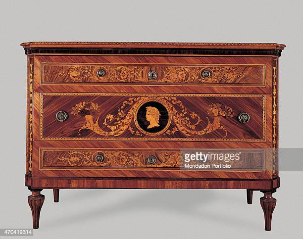 'Chest of drawers by Giuseppe Maggiolini 18th century veneered and inlaid rosewood Italy Lombardy Milan Castello Sforzesco Municipal Collections of...