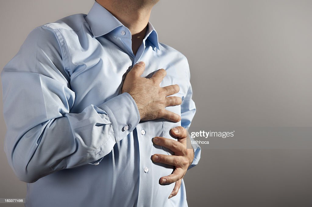 Chest Pain : Stock Photo