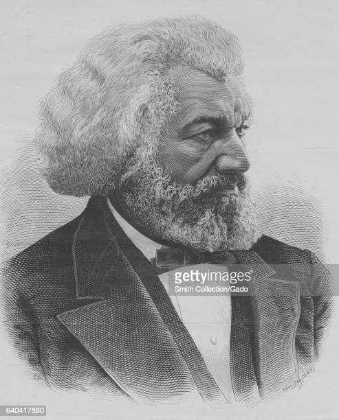 Chest up portrait of Frederick Douglas, an African American social reformer, abolitionist, and writer, 1884. From the New York Public Library. .