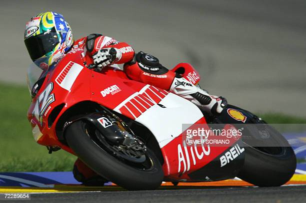Australian Troy Bayliss takes a corner during a qualifying session at the Valencia Grand Prix at the Ricardo Tormo Race track in Cheste near Valencia...