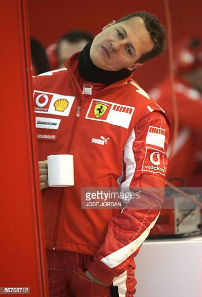 Ferrari Formula One driver Germany's Michael Schumacher is seen during a test session at the Ricardo Tormo race track in Cheste, near Valencia, 31...
