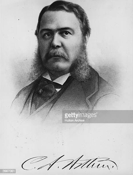 Chester Alan Arthur the 21st President of the United States of America A Republican he was James Garfield's vice president and was his successor when...
