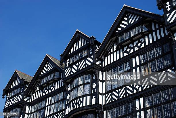 chester architecture - tudor stock pictures, royalty-free photos & images