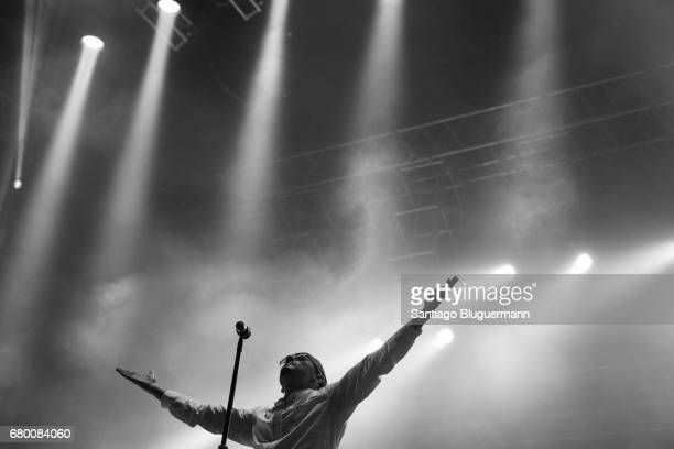 Chester Benington of Linkin Park performs as part of Maximus Music Festival at Tecnopolis on May 06 2017 in Buenos Aires Argentina