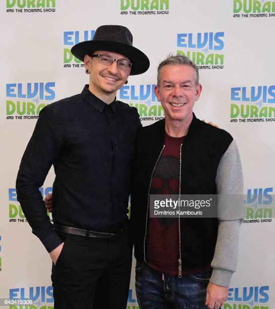 Chester Bennington and Elvis Duran attend The Elvis Duran Z100 Morning Show at Elvis Duran Offices on February 21 2017 in New York City