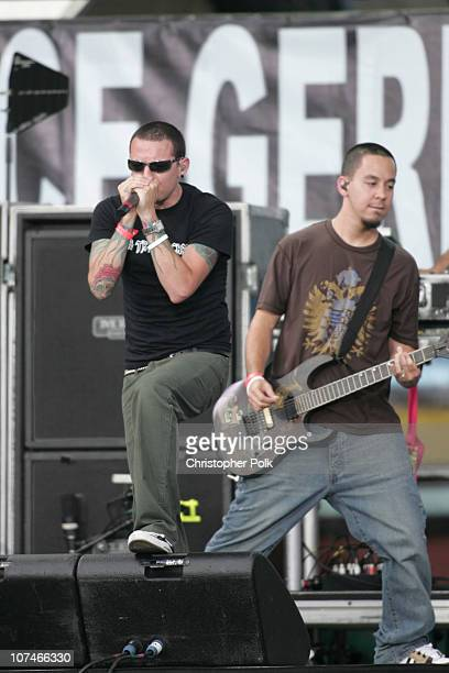 Chester Bennington and Mike Shinoda of Linkin Park