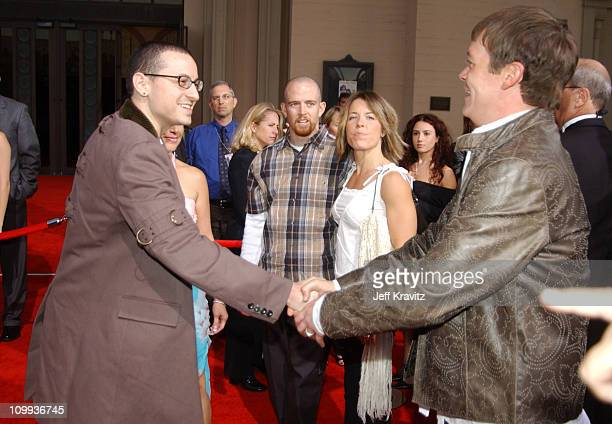 Chester Bennington and Phoenix of Linkin Park with Brad Arnold of 3 Doors Down
