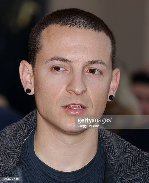 Chester Bennington during 32nd Annual American Music Awards Arrivals at Shrine Auditorium in Los Angeles California United States