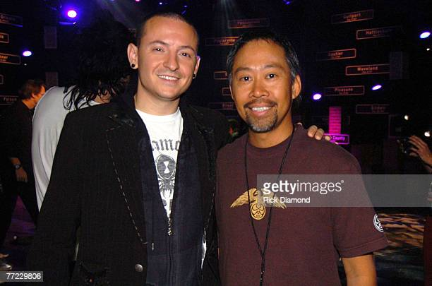 Chester Bennington of Linkin Park and Paul Villadolid CMT